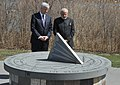 The Prime Minister, Shri Narendra Modi at the Air India Memorial Site, in Toronto, Canada on April 16, 2015. The Prime Minister of Canada, Mr. Stephen Harper is also seen (1).jpg