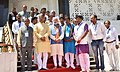 The Prime Minister, Shri Narendra Modi at the Bhim Birthplace Memorial (Bhim Janma Bhoomi), in Mhow, Madhya Pradesh on April 14, 2016. The Chief Minister of Madhya Pradesh, Shri Shivraj Singh Chouhan is also seen (2).jpg