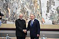 The Prime Minister, Shri Narendra Modi meeting the President of Kazakhstan, Mr. Nursultan Nazarbayev, on the sidelines of the Shanghai Cooperation Organisation (SCO) Summit, in Qingdao, China on June 10, 2018.JPG