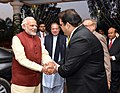The Prime Minister, Shri Narendra Modi visits the Prime Minister of Pakistan, Mr. Nawaz Sharif's home in Raiwind, where his grand-daughter's wedding is being held, in Pakistan on December 25, 2015.jpg