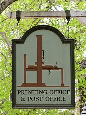 William Parks (publisher) - Image: The Printing Office & Post Office