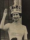 The Queen waves from the palace balcony after the Coronation, 1953. - Flickr - National Science and Media Museum.jpg