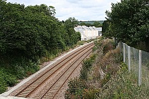 Disused railway stations on the Cornish Main Line - New houses have been built at Grampound Road since the station closed.