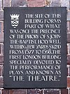 The Theatre (1577 – 1598) commemorative plaque.JPG