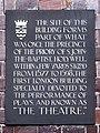 The Theatre (1577 – 1598) commemorative plaque.JPG
