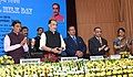 "The Union Minister for Agriculture and Farmers Welfare, Shri Radha Mohan Singh launching the ""e-pashu haat portal"", in New Delhi.jpg"