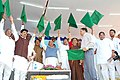 The Union Minister for Railways Shri Lalu Prasad flagging off of Train No.551552 Adilabad-Nanded-Adilabad New Broad Gauge Passenger at Kinwat, Nanded Dist., Maharashtra on January 31, 2007.jpg
