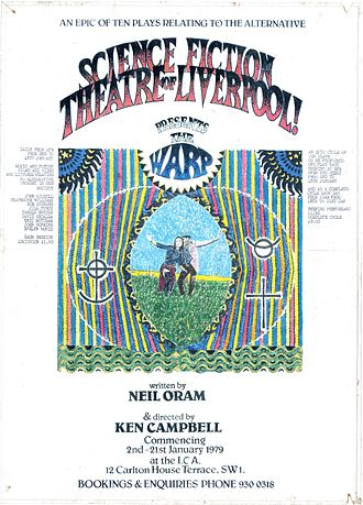 """Neil Oram - Poster for the Science Fiction Theatre of Liverpool production of Neil Oram's play 'The Warp"""" at the ICA, London, January 1979"""