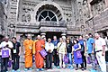 The delegates of the International Buddhist Conclave- 2018 visiting the Ajanta Caves, in Maharashtra on August 24, 2018.JPG