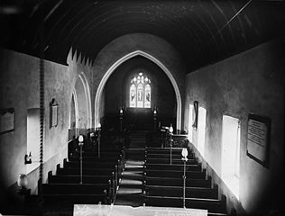 The interior of the church, Bodedern