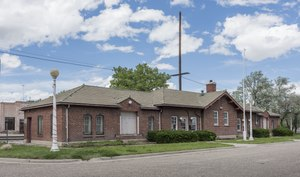 The old Colorado & Southern Railroad Depot, now the city visitor center in Walsenburg, Colorado LCCN2015632559.tif
