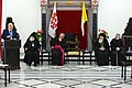 The president, Reuven Rivlin, visited the Latin Patriarchate in Jerusalem's Old City for Easter (2998).jpg