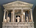 The reconstructed façade of the Nereid monument of Xanthos, British Museum, London (9500945329).jpg