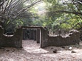 The ruins of the slave hut.JPG