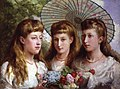 The three daughters of King Edward VII and Queen Alexandra by Sydney Prior Hall.jpg