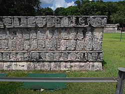 The tzompantli or Skull Platform.JPG