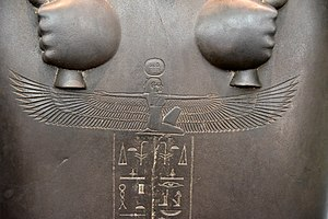 Nut (goddess) - The winged sky goddess Nut, detail, sarcophagus of Sisobek, 26th Dynasty, probably from Memphis, housed in the British Museum