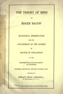 Theory of Mind of Roger Bacon.djvu