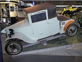 Frederick W. Lanchester - F W Lanchester's prototype petrol-electric car 1927, at Thinktank Birmingham Science Museum