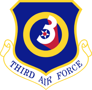 Third Air Force Numbered air force of the United States Air Force responsible for the European region