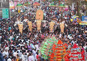 Thirumandhamkunnu Pooram - Image: Thirumandhamkunnu Pooram