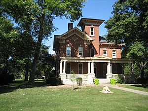 National Register of Historic Places listings in Livingston County, Illinois - Image: Thomas A. Beach House 2