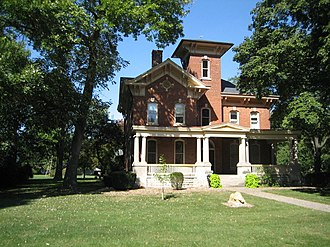 Fairbury, Illinois - The Thomas A. Beach House is one of two Fairbury properties listed on the National Register of Historic Places.