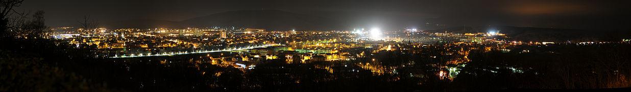 phtographie représentant Belfort vue de la Miotte, de nuit.