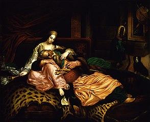 (Interior Scene with Sultan and Concubine)
