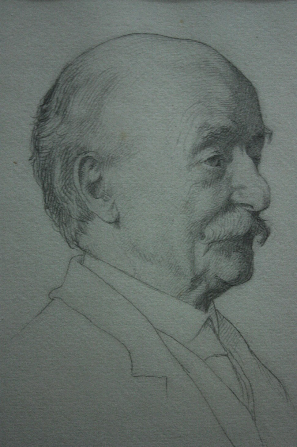 Thomas Hardy aged 70, by William Strang