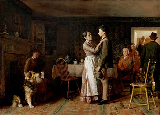 Thomas Hovenden, American (born Ireland) - Breaking Home Ties - Google Art Project