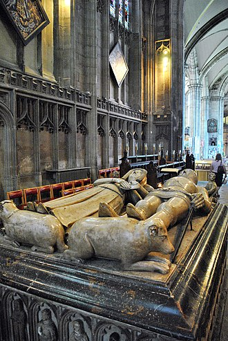 Katherine Mortimer, Countess of Warwick - Image: Thomas de Beauchamp, 11th Earl of Warwick & Katherine Mortimer effigies in Warwick St. Mary's church