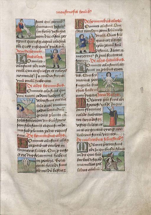 Thomas of Cantimpré De natura rerum ms 411 fol 3r