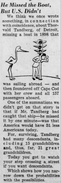 Thorvald Martin Tandberg (1874-1970) in the Detroit Free Press on June 1, 1956