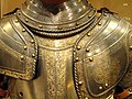 Three-quarter field armor, perhaps for Henry Herbert, 2nd Earl of Pembroke, Milan, 1560-1570 - Higgins Armory Museum - DSC05633.JPG