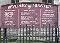 Times of services at Beverley Minster - geograph.org.uk - 1774743.jpg