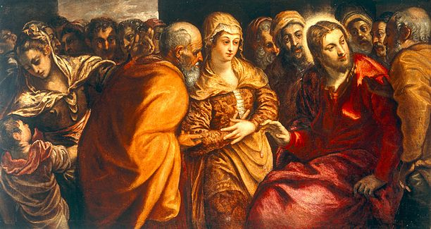Tintoretto (attrib.) - Cristo e l'adultera (Gallerie dell'Accademia)