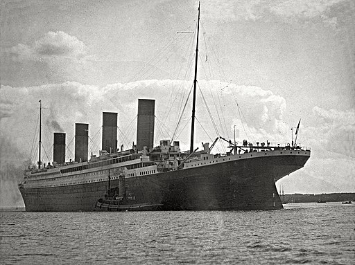 Titanic in her way to Cherbourg