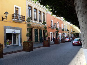 Tlaxcala City - Avenida Juarez in the city