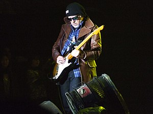 Brad Whitford - Whitford performing with Aerosmith in 2010
