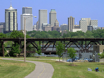 The river parks trail system traverses the banks of the Arkansas River. Tommso.jpg