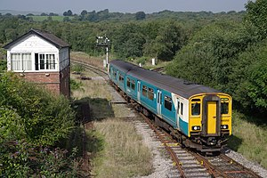 English: Arriva Trains Wales 150252 passes the...
