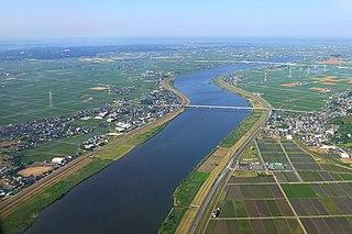 Tone River river in Japan