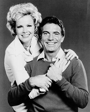 Anthony Franciosa - With Laraine Stephens in a publicity photo for Matt Helm in 1975