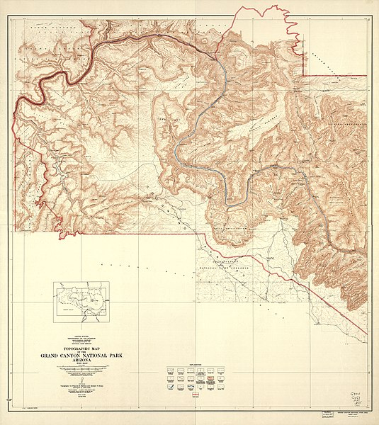 File Topographic Map Of The Grand Canyon National Park
