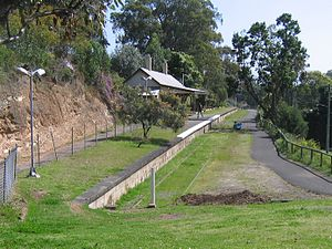Toronto, New South Wales - The closed railway station.