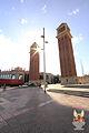 Torres d'accés al recinte de l'Exposició de 1929 (de Ramon Reventós i Farrerons) (1927-29) (01).jpg