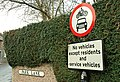 Traffic sign, Hillsborough - geograph.org.uk - 1126455.jpg