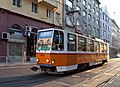 Tram in Sofia near Palace of Justice 2012 PD 046.jpg