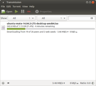 Transmission (BitTorrent client) - Image: Transmission 2.82